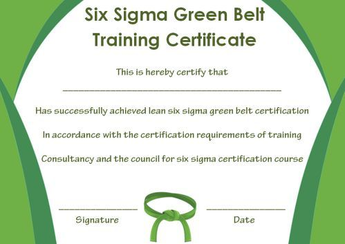 Green Belt Certificate 10 Unique And Beautiful Templates Template Sumo Green Belt Certificate Certificate Templates