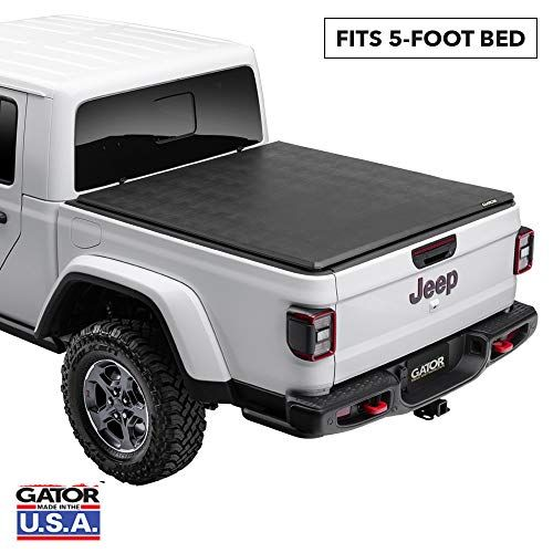 Gator Etx Soft Tri Fold 59701 Fits Jeep Gladiator Jt 2020 Without Rail System 5 Bed Made In The Usa In 2020 Jeep Gladiator Tonneau Cover Jeep Accessories