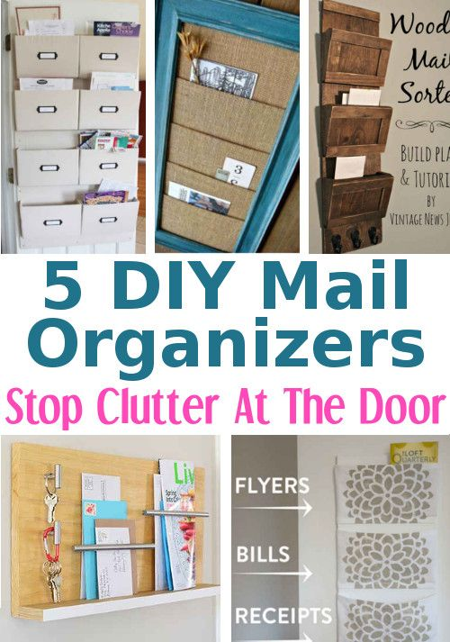More Diy Mail Organizers To Control Paper Clutter Diy Mail Organizer