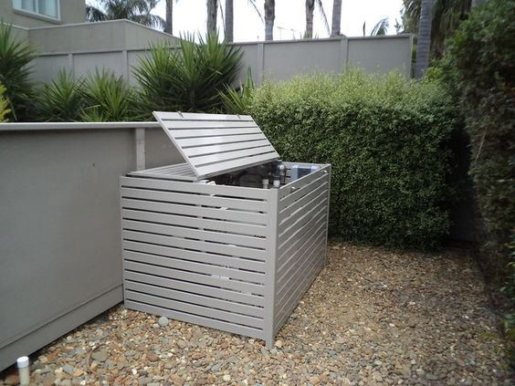 Pool Equipment Privacy Screens And Screens On Pinterest