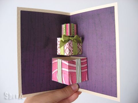 I made this card as a follow-up for the Box Fold tutorial. This card is probably the easiest box-fold pop up card ever! The boxes are not only the basic mechanism, but the popping element itself. A...