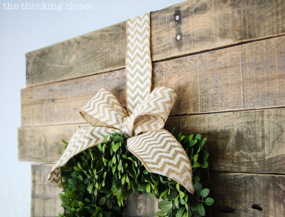 Balsam Hill's English Boxwood Wreath can be used for all seasons of the year with just a simple change of the ribbon. Via @Lauren Davison {TheThinkingCloset}