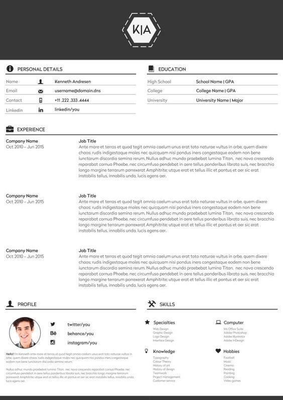 modern resume template word professional resume by TypeMatters - professional resume templates word 2010