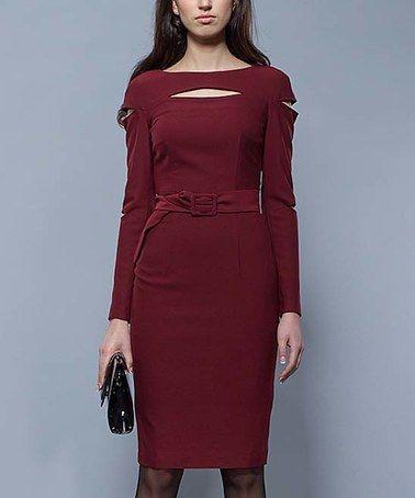 Look at this #zulilyfind! Vinous Cutout Sheath Dress #zulilyfinds