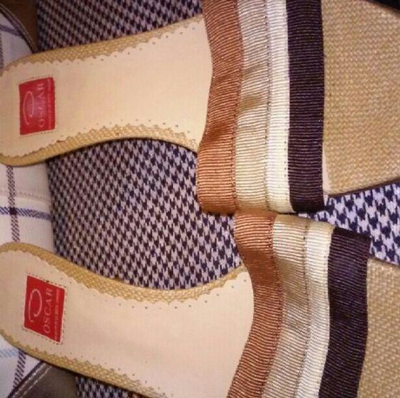 Oscar de la renta mules Worn once like new Oscar de la Renta Shoes Flats & Loafers