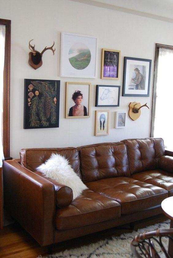 gallery layout  -  Julie's Northwoods-Meets-Art Deco Apartment in Minneapolis: