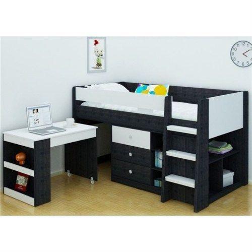 NEW Reagan Midi Sleeper Single Bunk in Espresso and White in Home & Garden, Furniture, Bedroom Furniture | eBay  $609.00