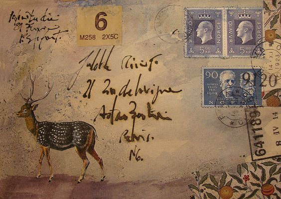 faux mail  but collage letter: