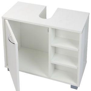 bathroom cabinet under sink cupboard basin storage unit. Black Bedroom Furniture Sets. Home Design Ideas