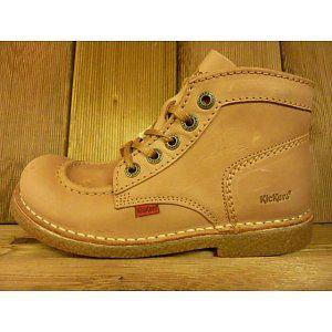 Kickers Boots Legendik beige Gr. 39 Schürschuhe auch für Einlagen in den Größen 37-42 gesehen bei www.Shoes4us.de in Velbert