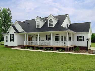 Farmhouse Style Ranch Home HWBDO09500 Farmhouse House Plan