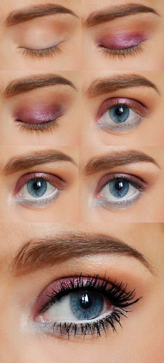 How about this makeup look that was inspired by Queen Elsa from Disney's Frozen? Love it! #makeup #frozen