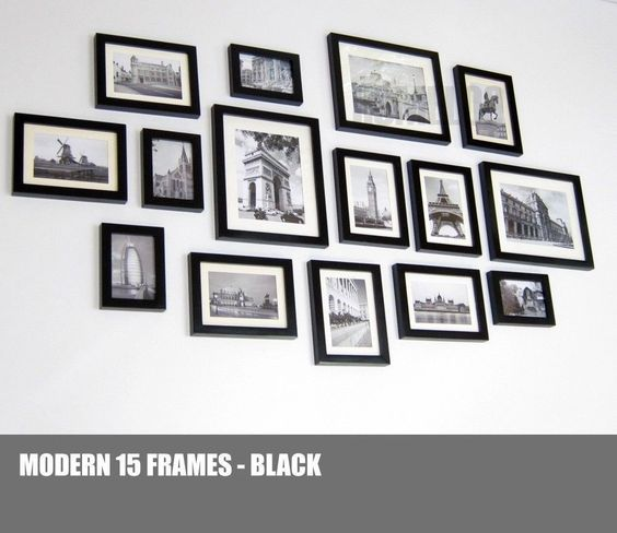 Details about homeloo wood wooden photo picture frame wall for Modern collage frame