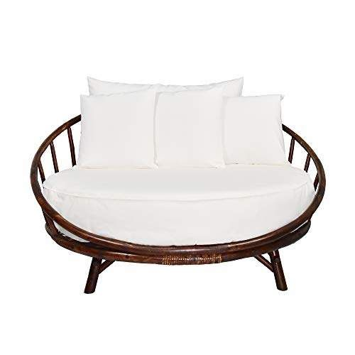 Zew Bamboo Round Daybed Outdoor Indoor, Large Round Sofa Bed