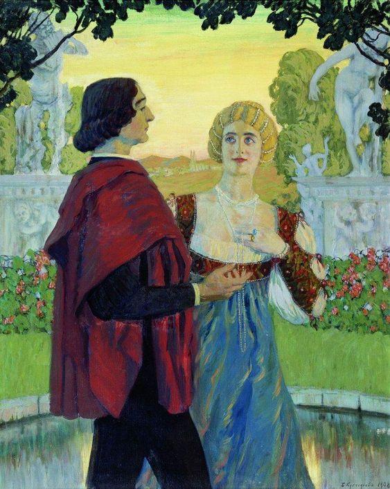 Boris Kustodiev (Russia, 1878 – 1927)  Poetry, 1902: