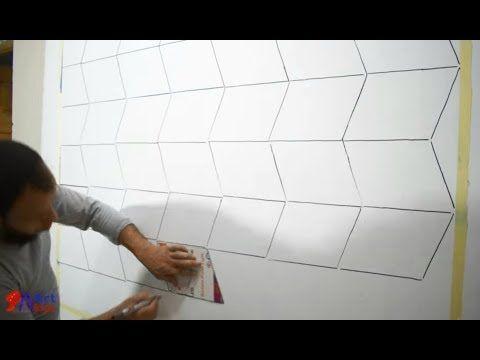 اصنع بنفسك ديكور خداع بصري ثري دي طريقة سهلة جدا Optical Illusion 3d Wall Design Youtube Pintura De Parede Pintura Parede Decoracao De Parede