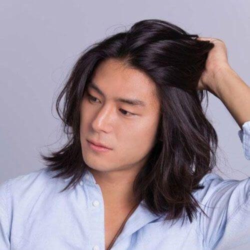 Asian Hairstyle For Long Hair Men In 2020 Long Hair Styles Men Asian Hair Asian Long Hair