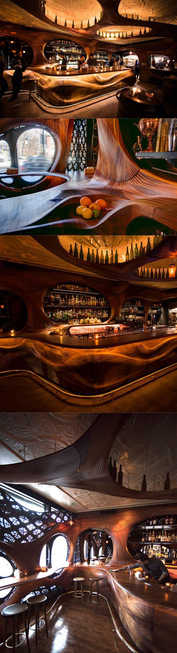 Art Nouveau Bar Raval - Toronto, Canada | http://knstrct.com/interior-design-blog/2015/6/3/pintxo-partisans-revisits-art-nouveau-with-bar-raval