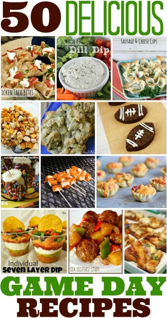 50 Delicious Game Day Recipes