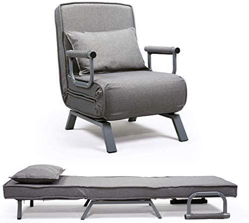 New Jaxpety Sofa Bed Folding Arm Chair Single Sleeper Bed Chair Leisure Recliner Lounge Couch Living Room Furniture In 2020 Single Sofa Bed Single Sofa Lounge Couch