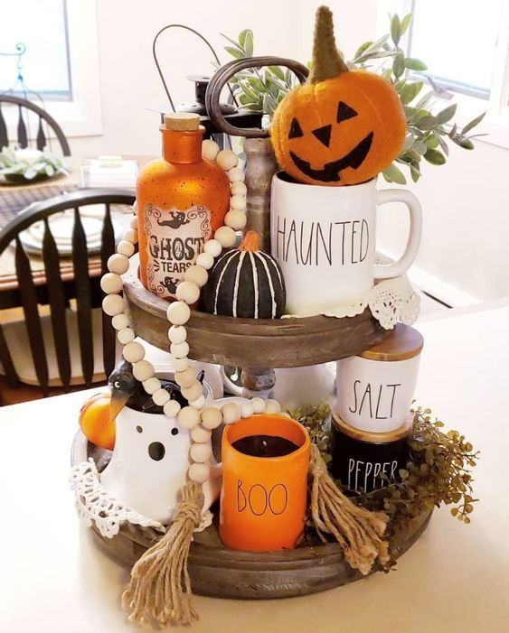 Fall And Halloween Decorations 2020 40+ Creative Farmhouse Halloween Decor Ideas & Designs For 2019