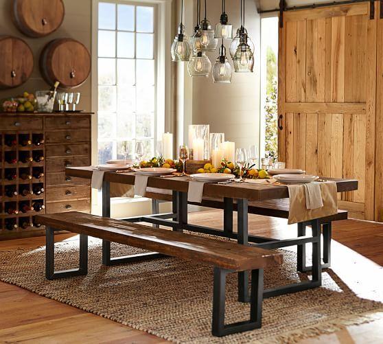 West Elm Rustic Kitchen Table En Cache