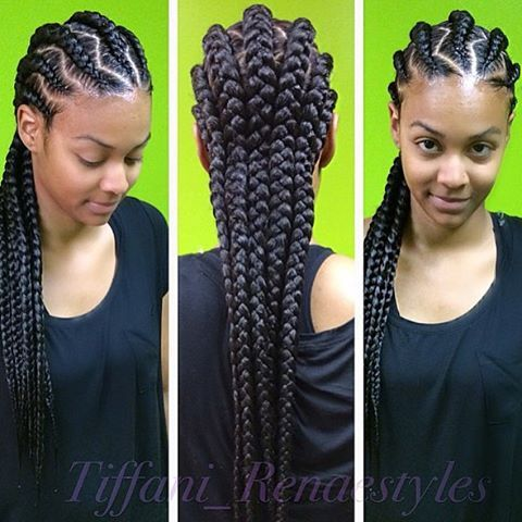 STYLIST FEATURE| Love these #goddessbraids styled by #JonesboroGA Stylist @Tiffani_Renaestyles❤️ So neat and pretty #VoiceOfHair ======================= Visit VoiceOfHair.com for inspiration and hairstyling tips =======================