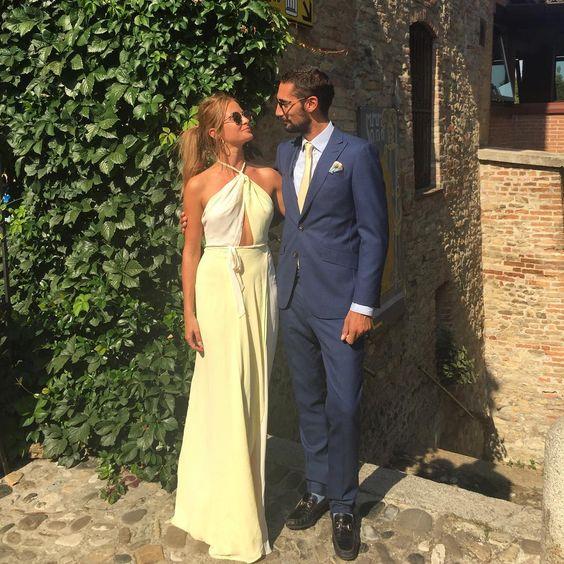 Millie Mackintosh rocks a yellow Reformation dress for a friend's wedding   DRESSR