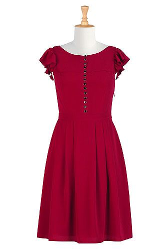 Intensely red dress, #eShakti, Customize to your size and style for FREE