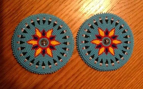 "Set of 2 1/2"" medallions. November 2014. 11/0 cuts. Scott Sutton"
