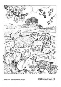 kleurplaat lente 3 kleuteridee nl preschool