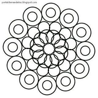 Portal de Mandalas - Mandalas Mágicas: Mandala para pintar 1 - Manifestação - Com Instruções