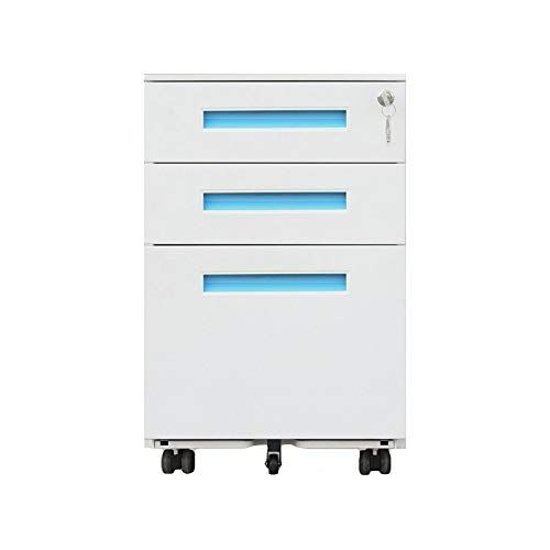 Durable Large Capacity Push Pull Drawer Mobile Iron File Cabinet With Anti Theft Lock Fully Assembled M Filing Cabinet Home Office Colors Home Office Cabinets
