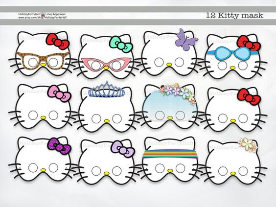 Pinterest the world s catalog of ideas for Hello kitty mask template