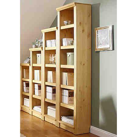Massivholz-Regal, Home affaire, »Soeren«. Hochwertige Massivholz-Möbel aus massiver, FSC®-zertifizierter Kiefer, in gelaugt/ geölt, kolonialbraun oder weiß gebeizt und lackiert.