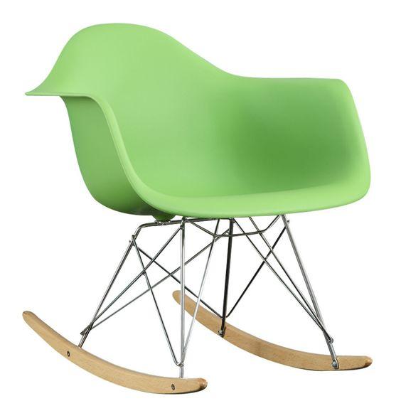 Rocker Lounge Chair in Green | domino.com