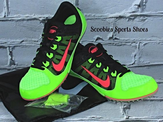 Nike Rival MD 7 Mid Distance Multi Use Track Running Spikes Electric Green/Pink #Nike #MiddleDistanceSpikes
