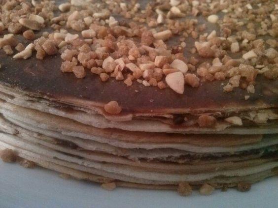 Tarta obleas y chocolate