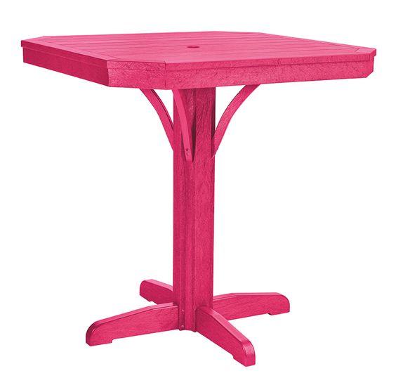 "C.R. Plastic Products T37 St. Tropez 35"" Square Counter Table w/ Pedistal"