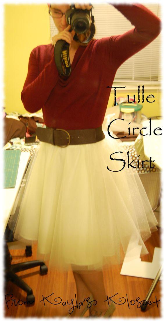 Tulle skirt: Tulle Skirts, Circle Skirts, Diy Tulle Skirt, Tulle Circle, Tulle Skirt Tutorial, Diy Clothes, Diy Tutu