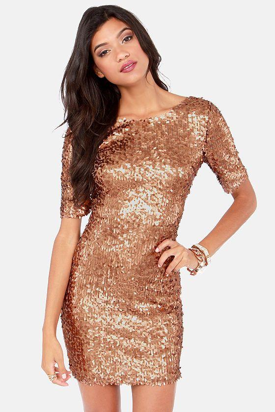 Global Dj Gold Sequin Dress - RP Dress