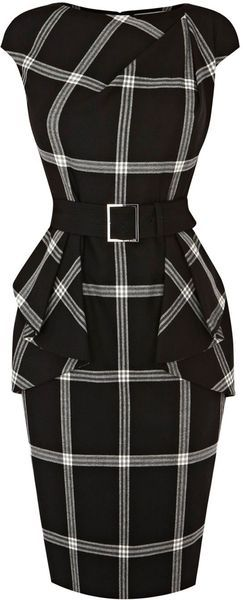 KAREN MILLEN ENGLAND Graphic Check Collection... with red heels of course.: