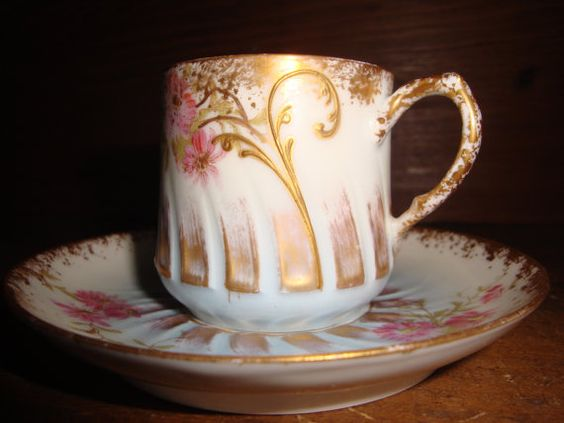 Limoges Demitasse Cup and Saucer ♥ by lattico on Etsy, $17.50