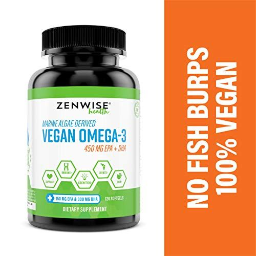 Vegan Omega 3 Supplement Marine Algal Source Of Epa Dha Fatty Acids For Joint Support Immune Syst Fish Oils Supplements Supplements Omega 3 Supplements