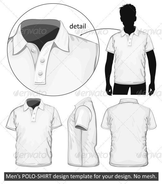 vector polo shirt template