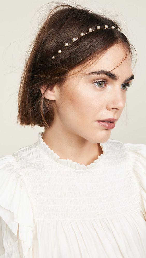 Pearl Hairband Hairstyle Hairstyles For Thin Hair Bridal Hair Accessories Headband Hairstyles
