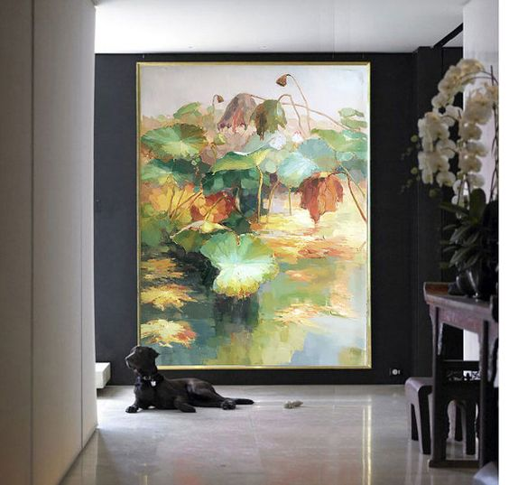 Original landscape oil painting large landscape by - Landscape paintings for living room ...