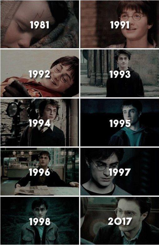 Harry Potter Im Laufe Der Jahre Junge Wie Die Zeit Vergeht Der Die Harry Jahre Junge Harry James Potter Harry Potter Tumblr Harry Potter Bucher