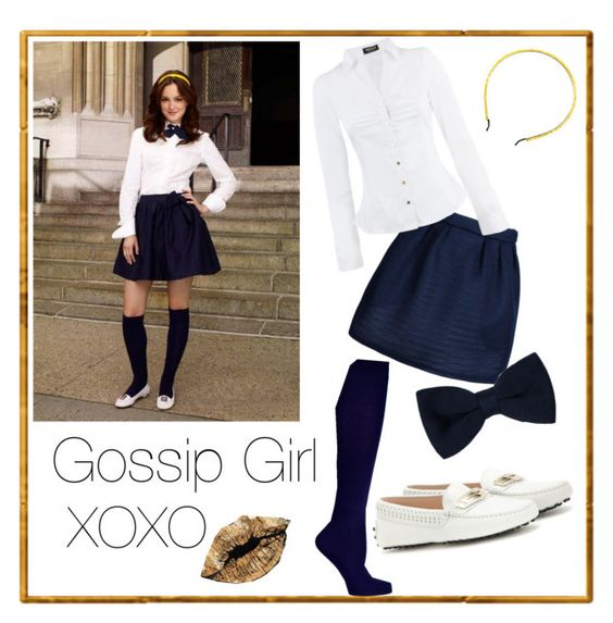"""Gossip Girl: Blair Waldorf"" by babyskitts on Polyvore featuring Tod's, Maison Kitsuné, Morgan, Bardot Junior, Zara, John Lewis and Oliver Gal Artist Co."