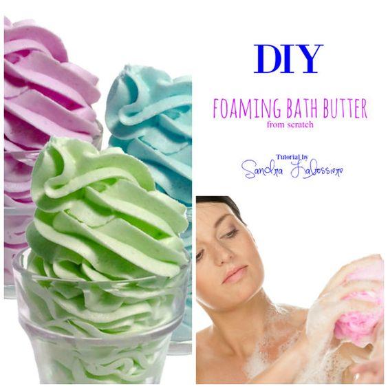 DIY  From Scratch  Foaming Bath Butter Base  by DIYbathandbodyshop
